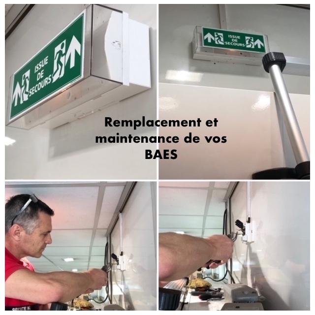 Maintenance des Blocs autonome d'éclairage de sécurité BAES éclairage de secours