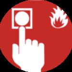Pictogramme rouge alarme incendie