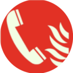 Pictogramme rouge telephone